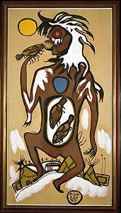 Image: Windigo by Norval Morisseau 1963